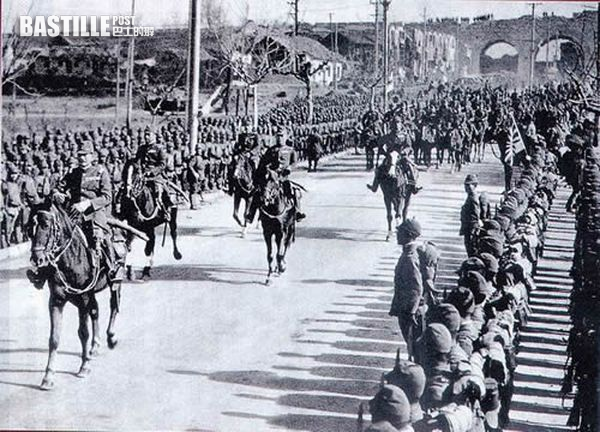 日軍攻陷南京入城 (網上圖片)