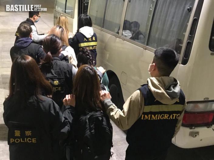 油尖警區聯同入境處掃黃 拘4內地女子