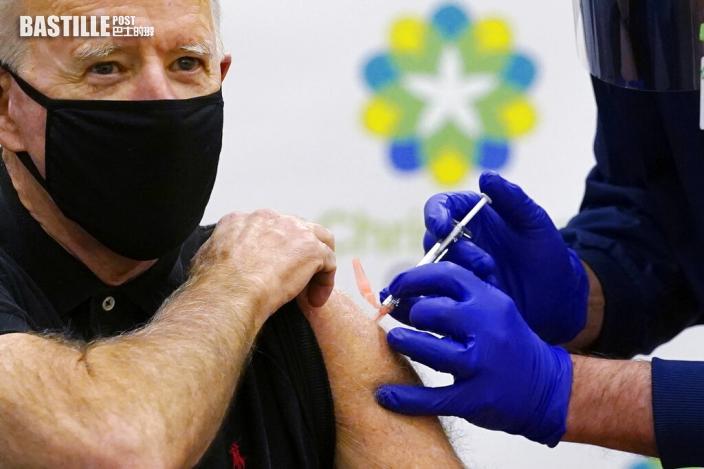 拜登再接種輝瑞疫苗 預告抗疫新策略