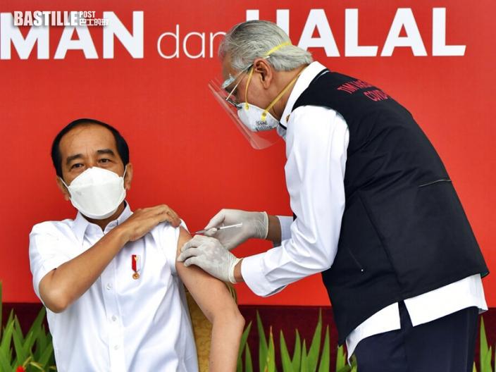 印尼總統佐科維多多公開接種科興新冠疫苗