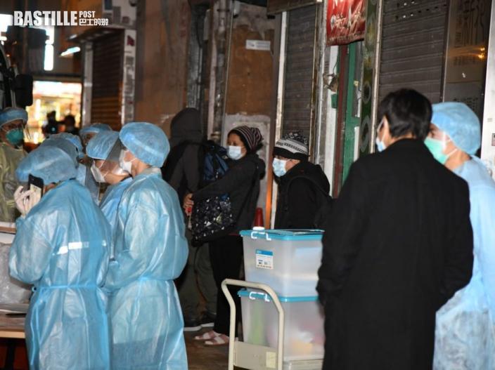 新填地街唐樓爆疫 住客清晨被送往檢疫中心