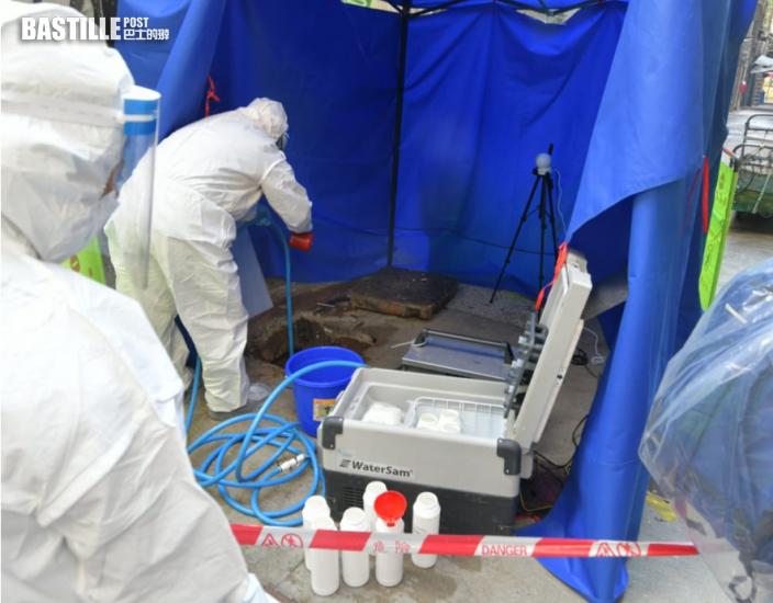 油麻地佐敦再劃核心區強檢 渠務署派員抽污水樣本化驗