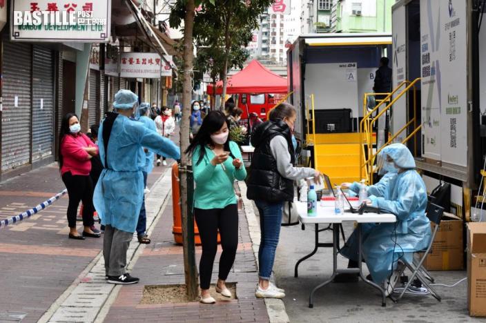「疫區」居民續接受強檢 深水埗街道後巷加強清潔