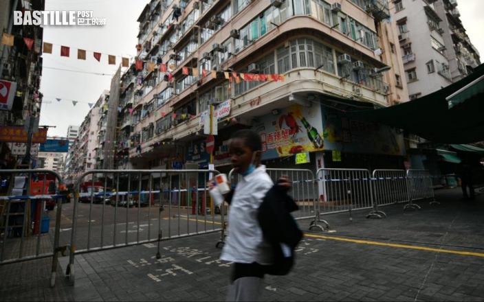 【爆疫一周年】佐敦四街疫區禁足令 路口拉閘警員駐守(多圖)