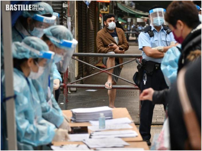 【爆疫一周年】佐敦封鎖區檢測站開放至午夜 市民排隊採樣