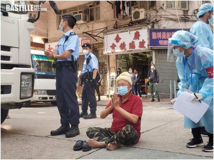【爆疫一周年】南亞漢坐炮台街馬路 為疫區居民祈福