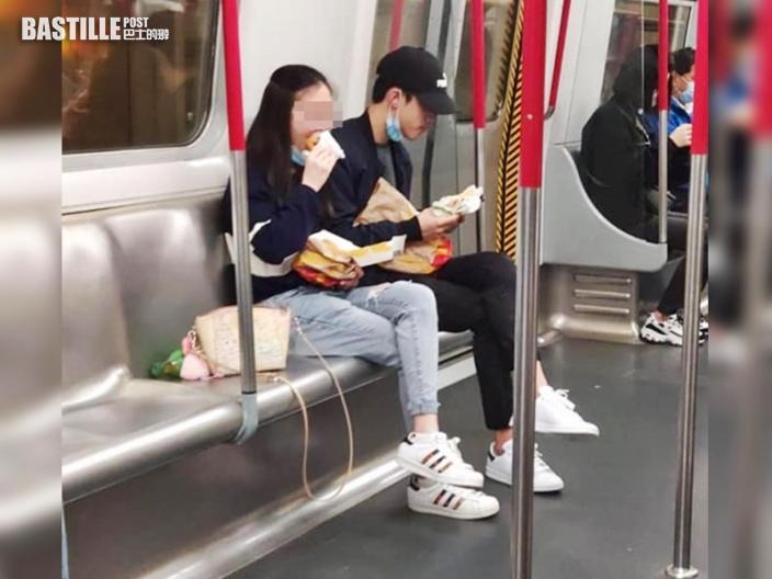 【Juicy叮】港鐵自私男女懶理疫情 公然除罩開餐被批