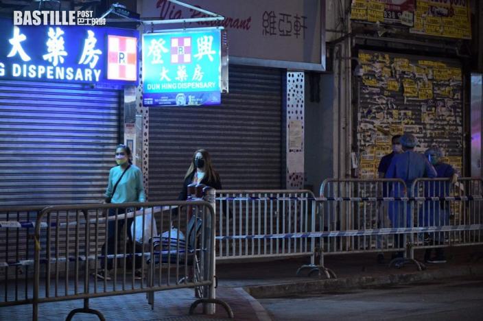 【爆疫一周年】佐敦封鎖區域入夜後冷清 路上僅餘工作人員
