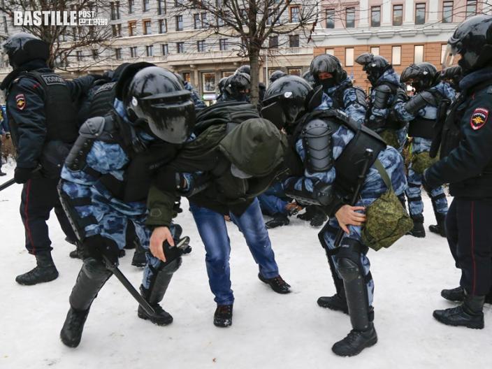 俄羅斯示威席捲全國 要求釋放納瓦爾尼逾2千人被捕