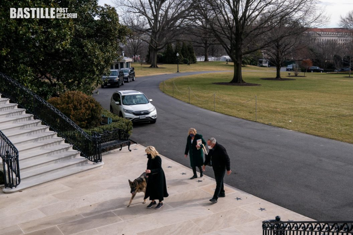 拜登兩愛犬「冠軍」及「少校」正式搬入白宮
