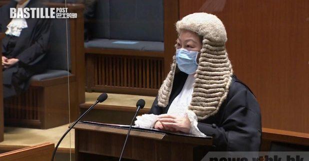 鄭若驊致辭時,談及香港國安法在本港頒布後出現對法治毫無根據的挑戰。