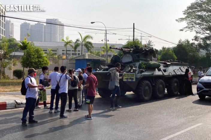 緬甸多處現裝甲車 多國發聯合聲明籲軍方克制