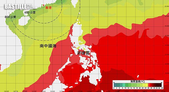 風暴「杜鵑」下周或闖南海後消散 天文台:海水溫度低不利發展