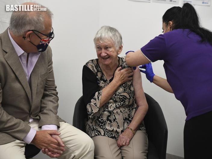 澳洲提前展開疫苗接種 莫里森率先打第一劑
