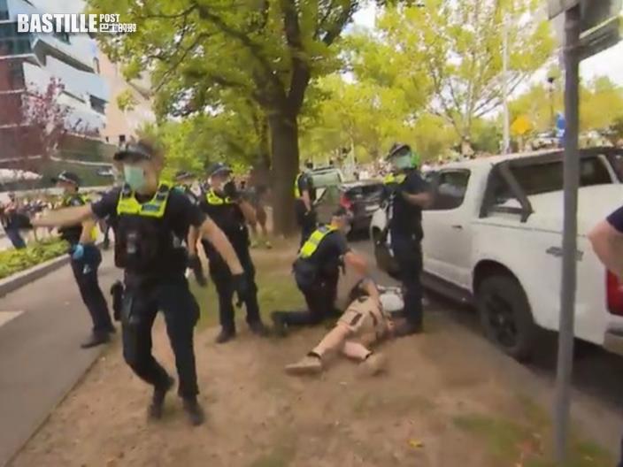 澳洲數以千人上街 抗議接種疫苗計畫