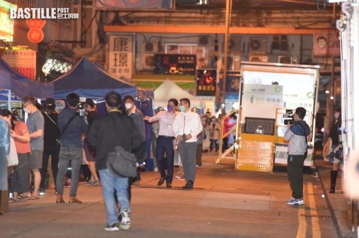 新蒲崗受限區域居民開始接受檢測 徐英偉到場視察