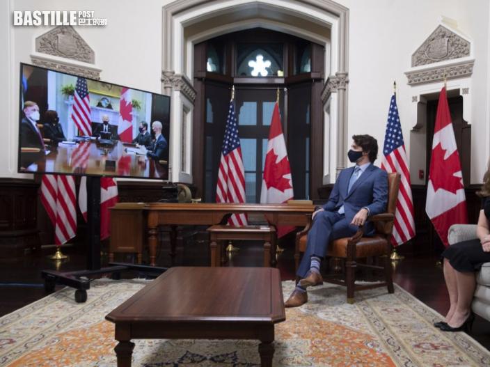 拜登與杜魯多舉行視像會議 談及中方扣押加國公民