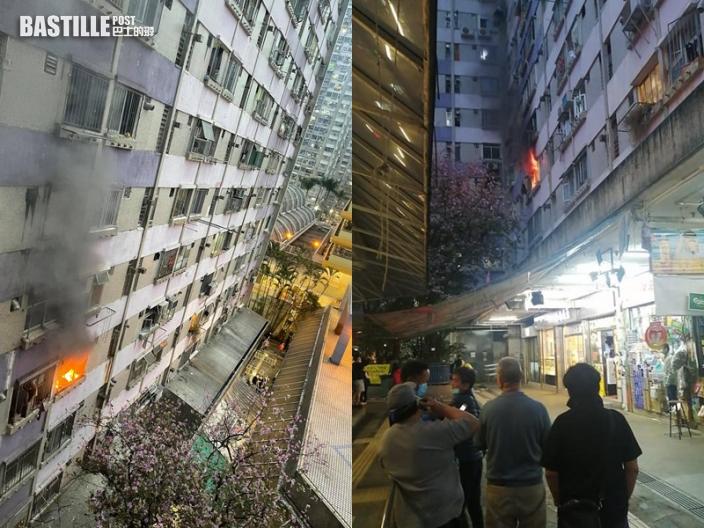 沙田博康邨單位起火 百人需疏散
