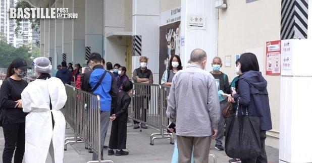 不少市民在新春假期到社區檢測中心接受檢測。(港台圖片)