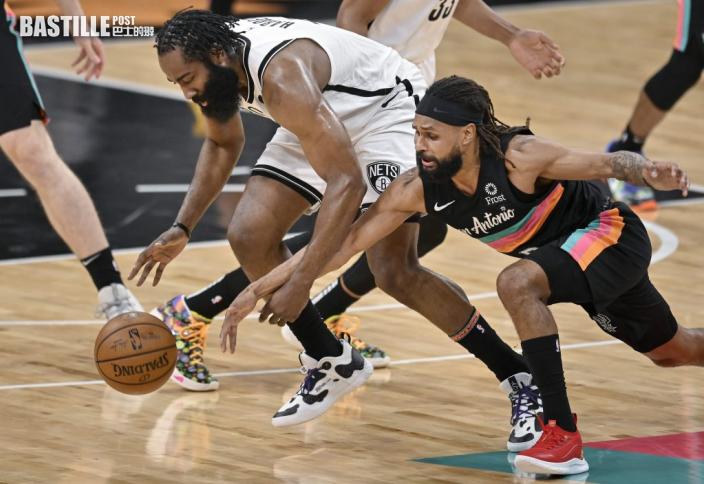 【NBA】哈登三十分三雙創紀錄 籃網近十九年首客挫馬刺