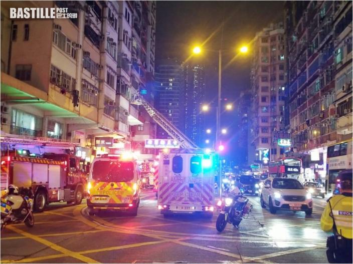 佐敦唐樓突起火消防撲熄 無人受傷