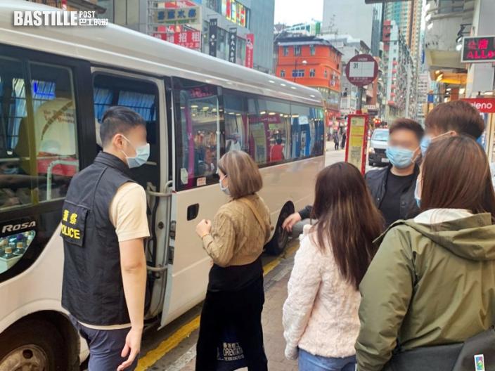 警跨部門反黑工 荃灣拘1內地男4外籍女