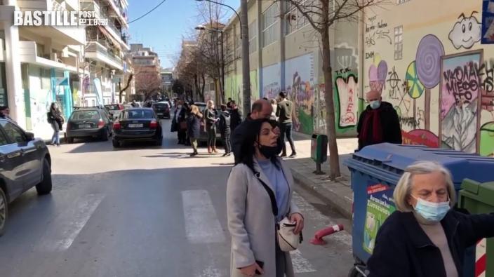 希臘發生6.9級地震 有建築物損毀