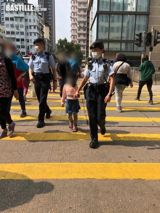 警員協助深水埗非華裔女孩尋母