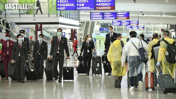 明起所有免檢疫人士包括機員均須機場等檢測陰性後離開