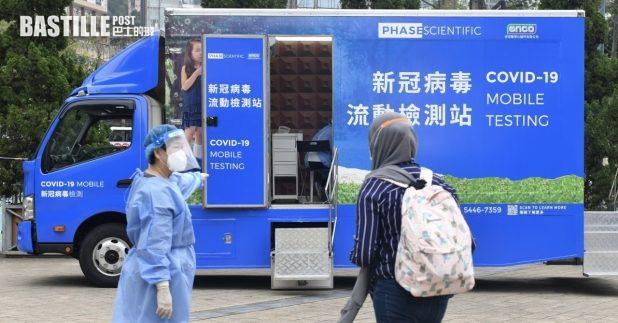 勞工處今天及下星期日為外傭提供免費新型冠狀病毒檢測服務。(政府新聞處)