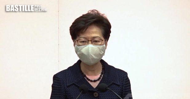 林鄭月娥表示,改善選舉制度為確保愛國者治港。(郭志強攝)