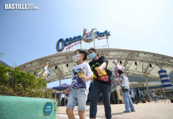【長假最後一天】海洋公園續人頭湧湧 遊人稱設施輪候半小時