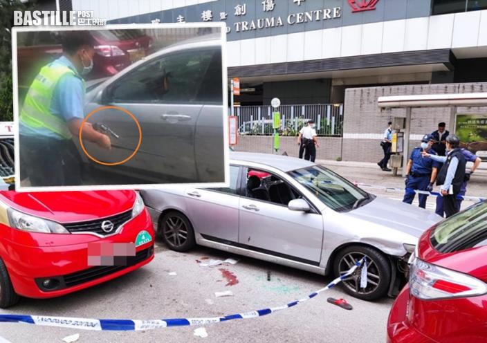 私家車瘋狂駕駛撞8車 警開槍制止拘黑幫地盤工