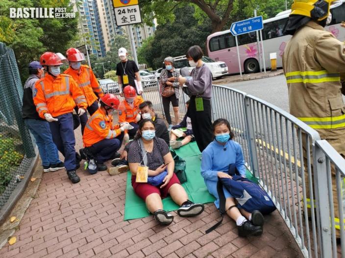 何文田兩小巴相撞 14人受傷