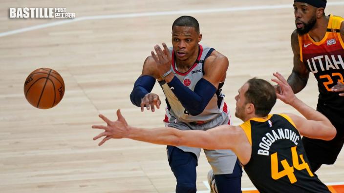 【NBA】巫師韋少三十五分三雙 斷爵士主場連勝紀錄