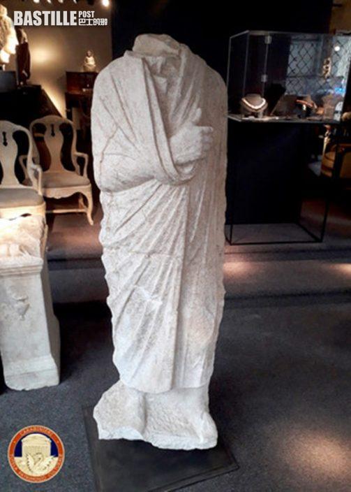 意大利憲兵比利時街頭巧見無頭雕像 證實為失竊10年文物