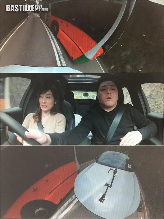 【執番條命】「P牌」陳嘉倩駕車得人驚 險越線迎頭撞巴士