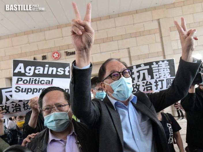 【818及831案】何俊仁及楊森法庭外見記者 指不排除就判決上訴