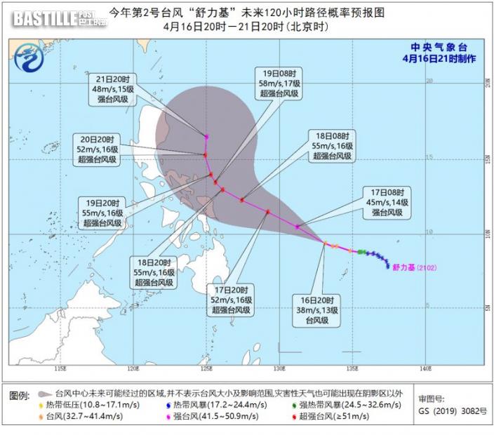「舒力基」勢成今年首超強颱風 歐洲預報指或港800公里外掠過
