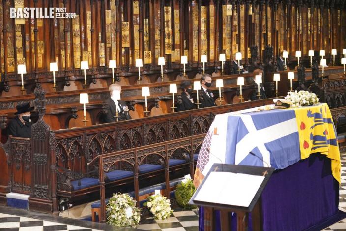 菲臘親王喪禮結束 英女皇被拍到車中拭淚