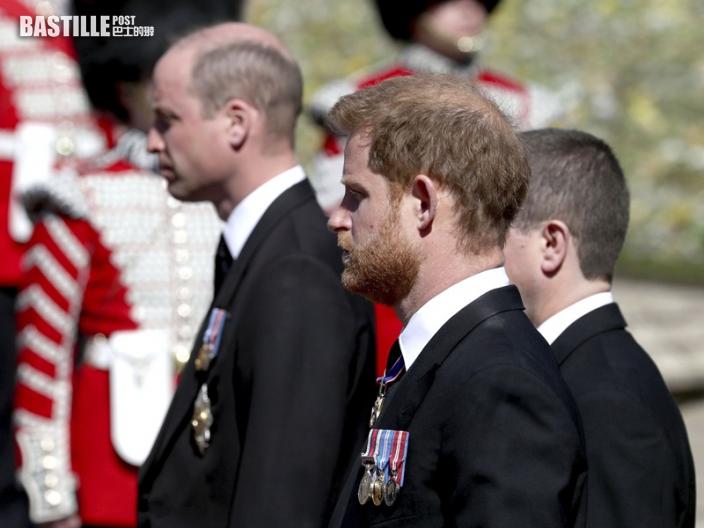 菲臘親王長埋聖喬治教堂地下墓室 威廉與哈里同行交談