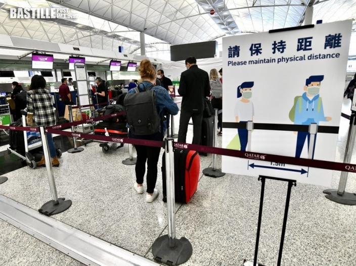 政府周二起禁止印度、巴基斯坦及菲律賓航班抵港