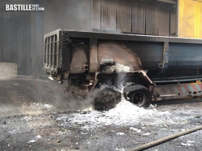 台中—鋼鐵廠拖車爆炸 兩名職員受傷