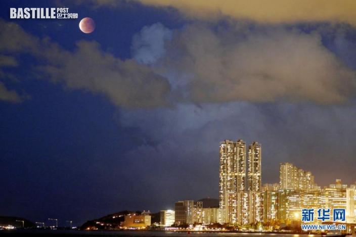 這是5月26日在香港拍攝的月亮。