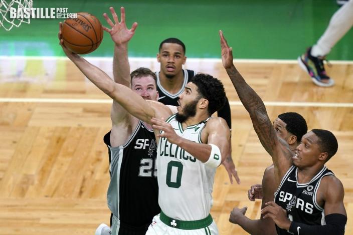 【NBA】塞爾特人加時挫馬刺 泰頓轟60分追平布特紀錄