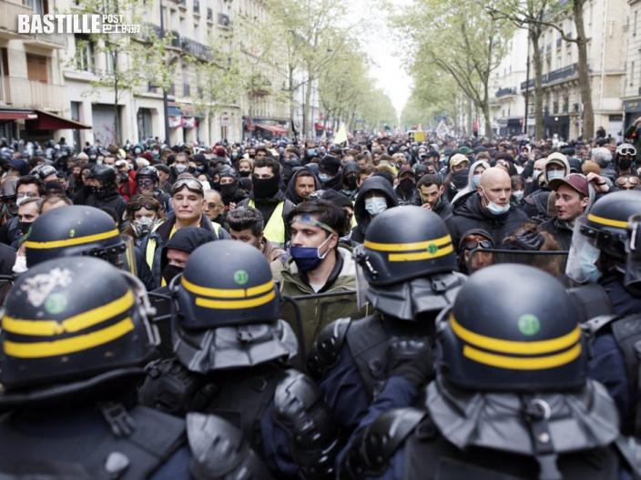 多國民眾發起五一遊行演變成警民衝突