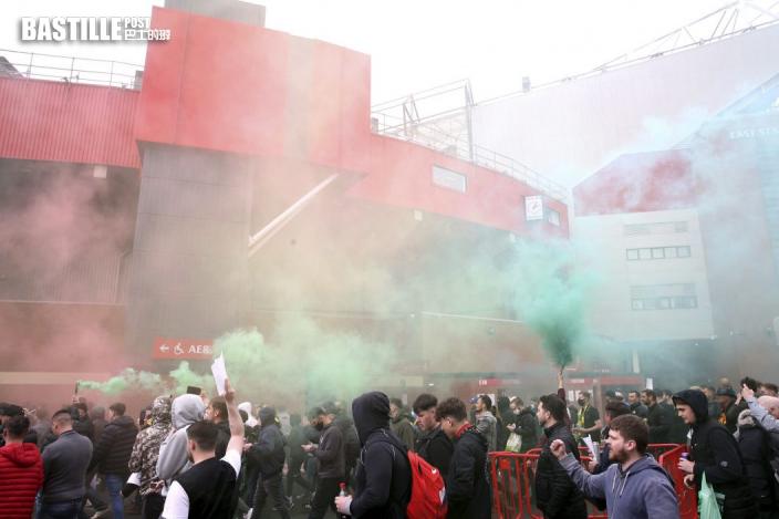 【英超】曼聯利記雙紅會前夕 球迷踩入球場示威抗議