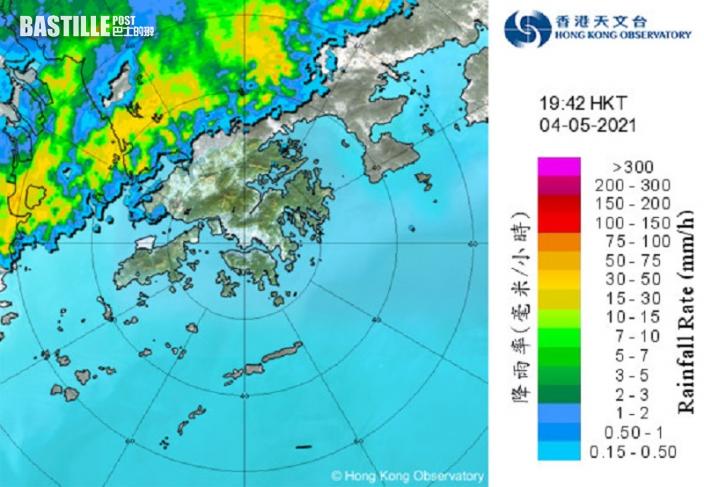 今年首個黃色暴雨警告生效 雨勢頗大及狂風雷暴