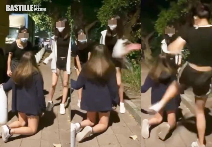 天水圍少女遭童黨掌摑迫跪地踢腹 受虐少女及一施襲女童同被捕