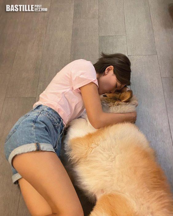 洪永城愛犬病逝 梁諾妍好難過:我不會忘記你放下你